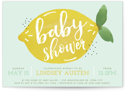 sweet lemon Baby Shower Postcards