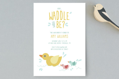 Waddle It Be Baby Shower Postcards