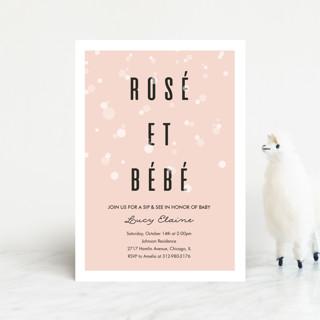 Rosé Et Bébé Baby Shower Postcards
