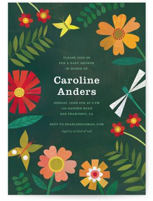Garden Border Baby Shower Postcards