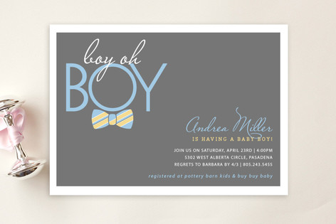 Bow Tie Boy Oh Boy Baby Shower Postcards