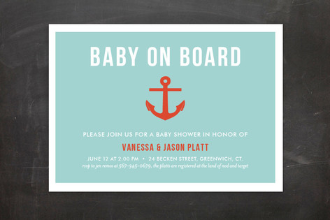 Baby on Board Baby Shower Postcards
