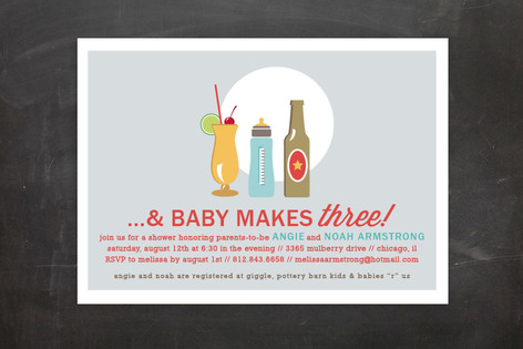 Drinks All Around Baby Shower Postcards