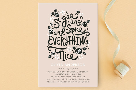 Sugar and Spice Baby Shower Postcards