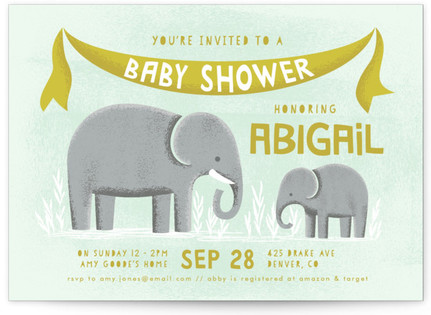 Elephamily Baby Shower Postcards