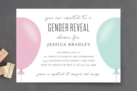 Simply Balloon Baby Shower Postcards