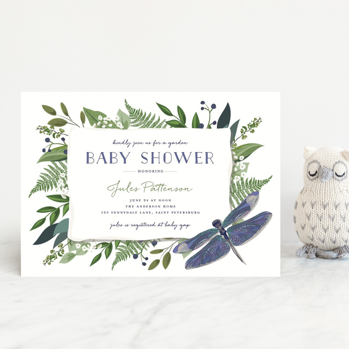"""""""Nature Baby"""" - Baby Shower Postcards in Mixed Berry by Susan Moyal."""