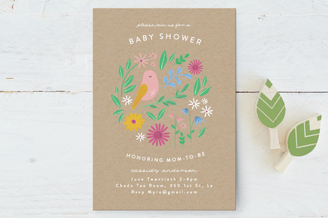 Baby Bird Baby Shower Postcards