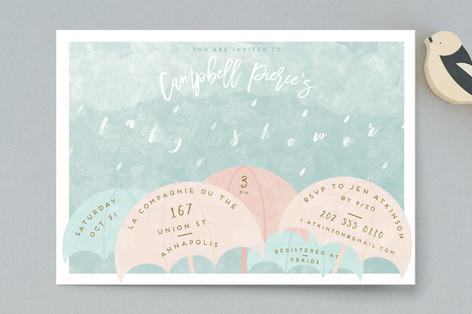 Rain Baby Shower Postcards