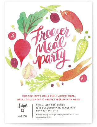 Fill their Freezer Baby Shower Postcards