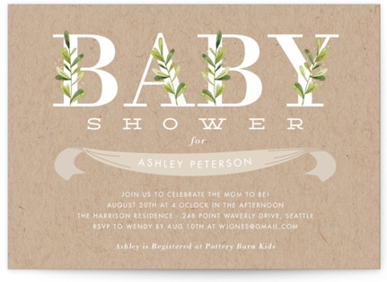 Botanical Baby Shower Postcards