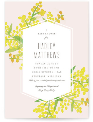 Goldenrod Baby Shower Postcards