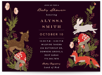Fall Forest Baby Shower Postcards