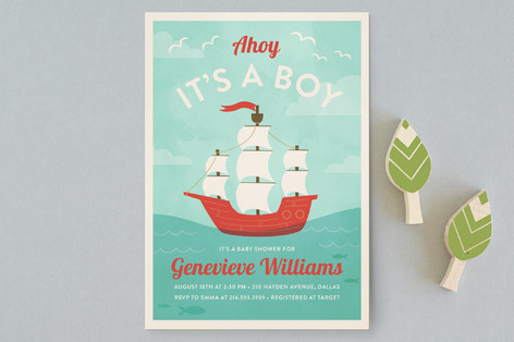 ahoy little matey Baby Shower Postcards