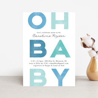 Oh baby blue Baby Shower Postcards