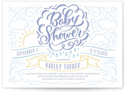 Raining Love Baby Shower Postcards