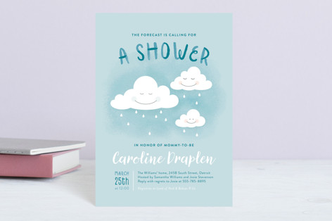 The Forecast Baby Shower Postcards
