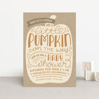 Little Pumpkin Baby Shower Postcards