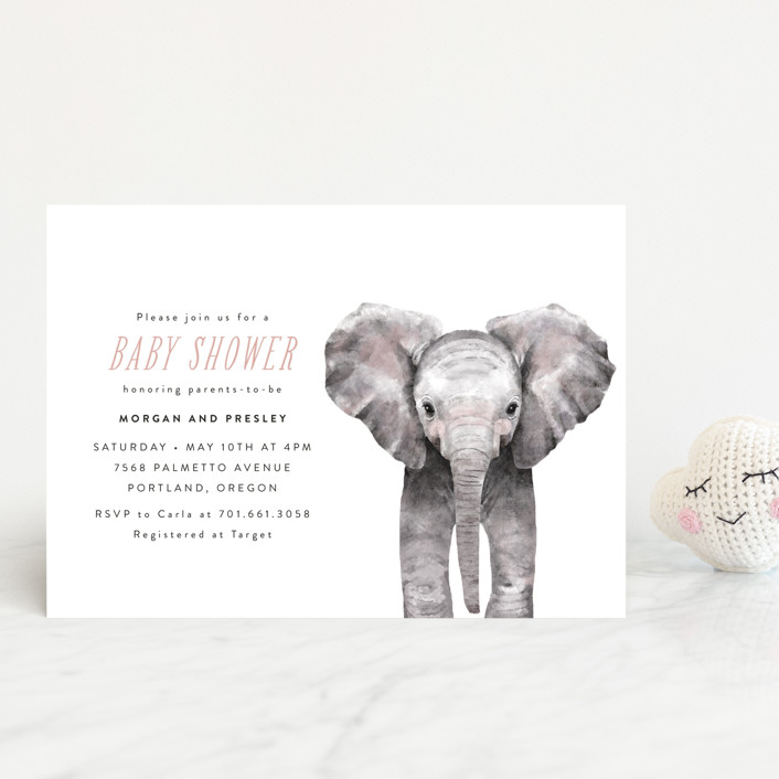 Baby Elephant Shower Postcards By