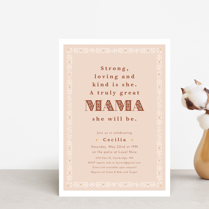 """""""Great Mama"""" - Baby Shower Postcards in Candy by Kelsey Mucci."""