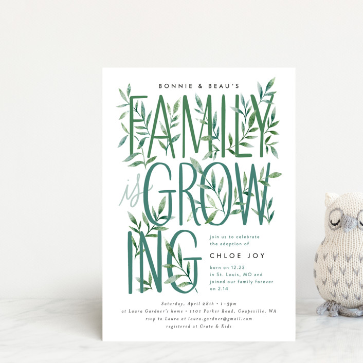 """""""Growing Family"""" - Baby Shower Postcards in Forest by Alethea and Ruth."""
