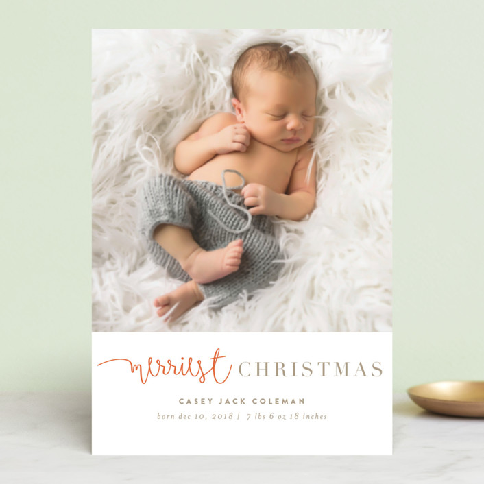 """tuille"" - Holiday Birth Announcement Postcards in Mandarin by chocomocacino."