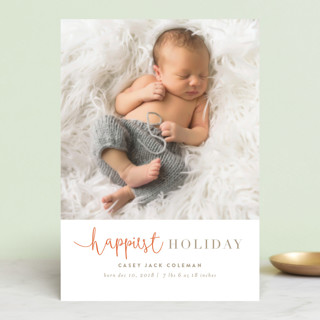 tuille Holiday Birth Announcement Postcards