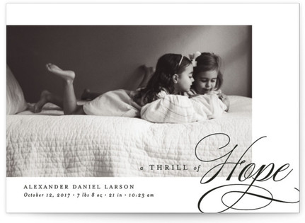 Thrill of Hope Holiday Birth Announcement Postcards