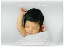 This is a white babys first christma by Kate Ross called All God's Grace with standard printing on signature in postcard.