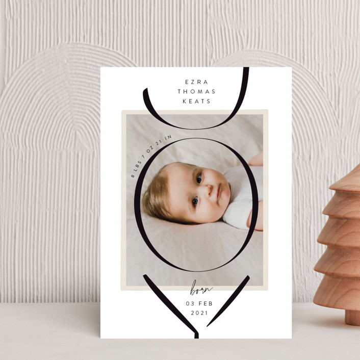 """""""Welina"""" - Holiday Birth Announcement Postcards in Diamond by Rebecca Daublin."""
