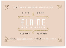 This is a pink business card by Hooray Creative called Gold Glamour printing on signature.