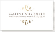 This is a gold business card by Phrosne Ras called The Most Simple printing on signature.