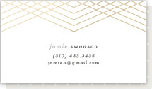 This is a gold business card by chocomocacino called Galette printing on signature.