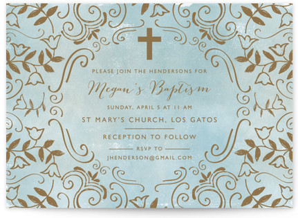 Holy Christening Baptism and Christening Invitations