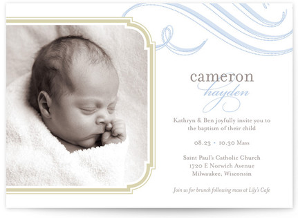 Cloud Nine Baptism and Christening Invitations