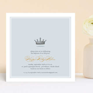 Our Little Prince Baptism & Christening Announcements