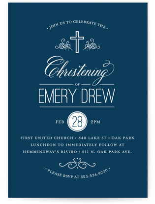 Gateway Baptism and Christening Invitations