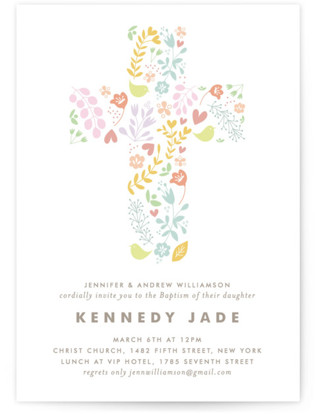 HAPPY Baptism and Christening Invitations