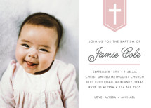 Delicate Cross Baptism and Christening Invitations By Susan Asbill