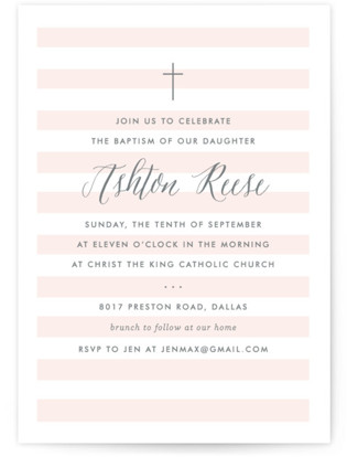 Sleek Baptism and Christening Invitations