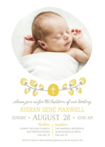 Organic Palms Baptism and Christening Invitations By Kaydi Bishop