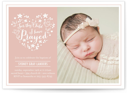 For This Child Baptism and Christening Invitations