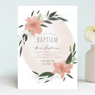 Floral Burst Baptism & Christening Announcements