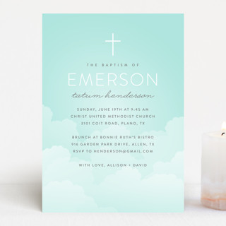 heavenly sky Baptism & Christening Announcements