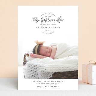 Purity Baptism & Christening Announcements