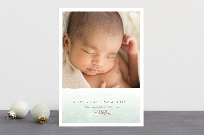 merry little addition Holiday Birth Announcements by Karidy Walker – New Years Birth Announcements