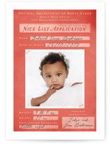 This is a red babys first christma by Gwen Bedat called Application Pending with standard printing on smooth signature in standard.