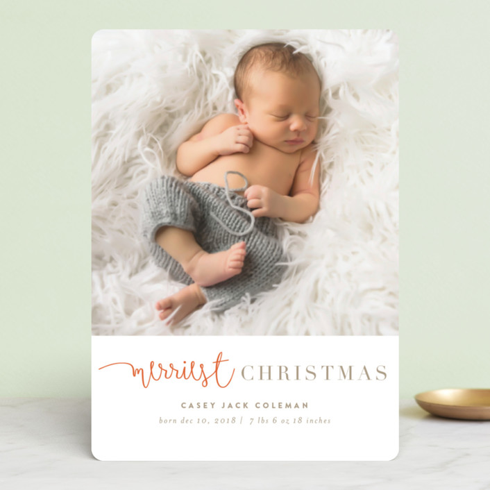 """""""tuille"""" - Holiday Birth Announcements in Arctic by chocomocacino."""