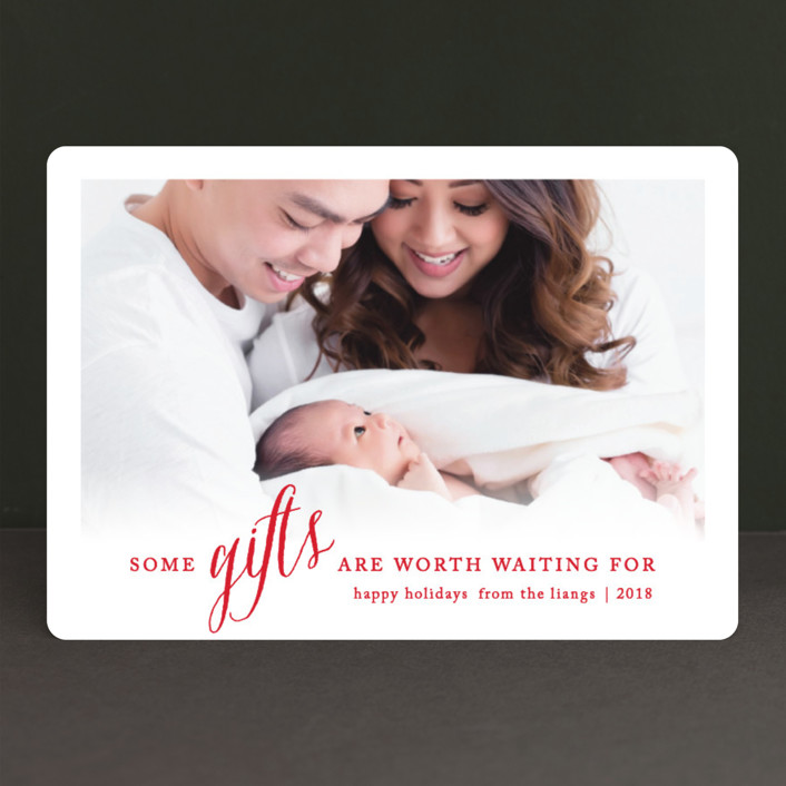 """""""Some Gifts"""" - Holiday Birth Announcements in Berry by Ellis."""