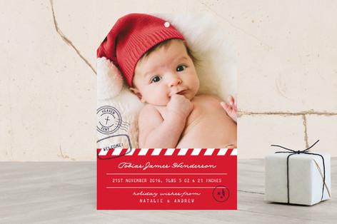 Heaven Postmark Holiday Birth Announcements